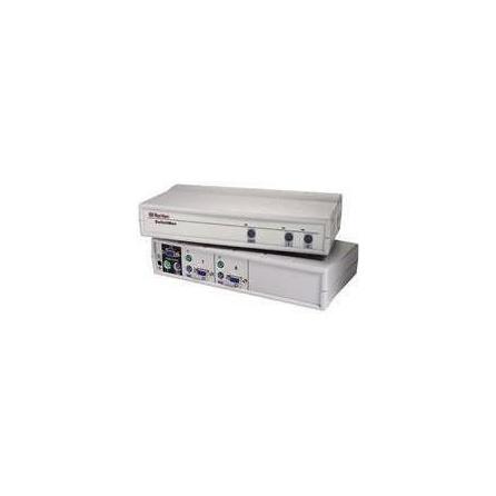 KVM prepínač SW2 cez káble KVM, 2 KVM porty PS2, 1 lokálny používateľ, na stôl