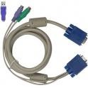 Príslušenstvo KVM kábel KC-1505C zväzok káblov 5m PS/2+USB redukcia pre pripojenie 1 PC ku