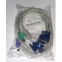 Príslušenstvo KVM kábel KC-1501 zväzok káblov 1,8m pre pripojenie 1 PC ku PS/2 KVM konzole