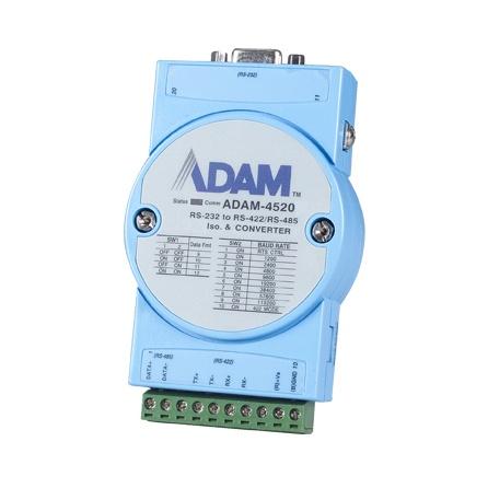 Prevodník RS232 na RS422/485 ADAM-4520-EE izolovaný, -10 až 70°C