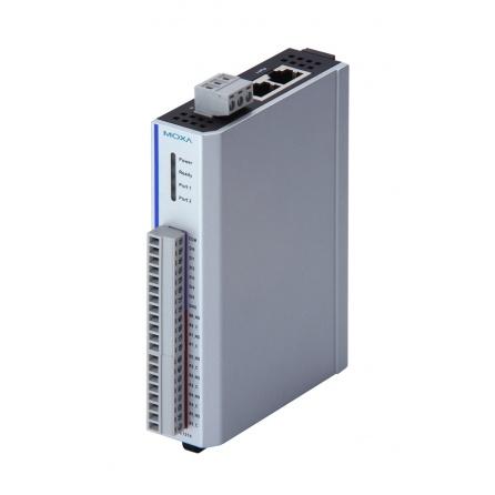 I/O server ioLogik E1240-T 8xAI 0-10V 4-20mA 16bit, Modbus/TCP, LAN bypass, aktívny OPC  server, 12 až 36 VDC, -40 až 75°C