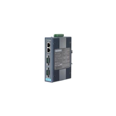 Prevodník priemyselný ModbusTCP/RTU/ASCI EKI-1222I 2xRS232/422/485 DB9M 2xLAN RJ45 na DIN lištu -10 ~ 60°C