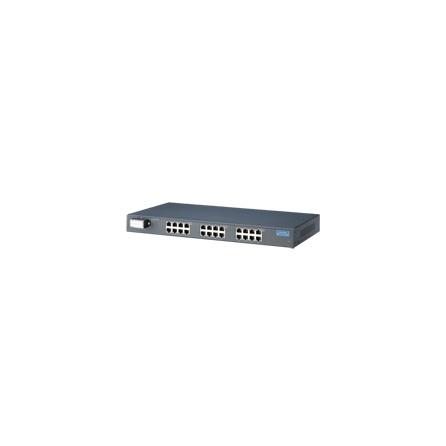 Switch EKI-4524I 24x10/100Tx RJ45 nemanažovateľný 110 ~ 220V ,-40 ~ +75°C