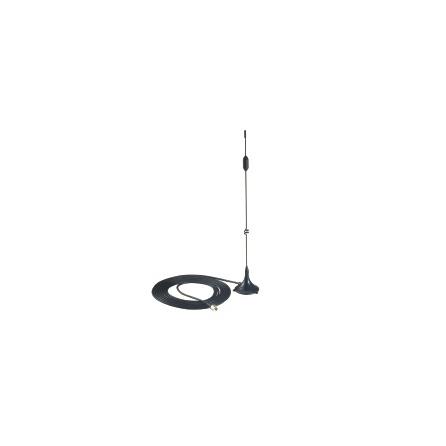 Anténa ANT-CQB-AHSM-03-3m, 850/900/1800/1900 MHz, 3 dBi, všesmerová, SMA (male), magnet, dĺžka kábla 3m