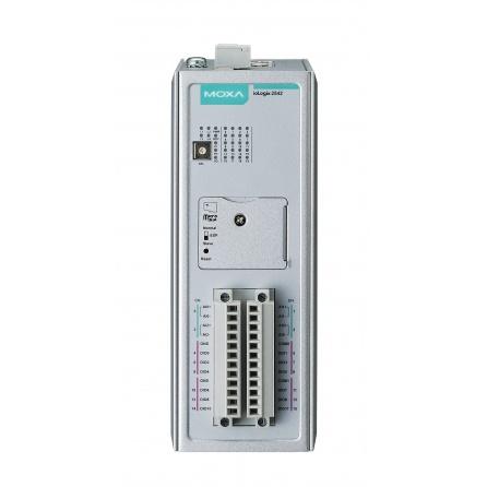 I/O server ioLogik 2512-T 8xDI, 8xDIO, Modbus/TCP, 4xLAN RJ45, 9 až 48 VDC, slot na micro SD, -40 až 75°C