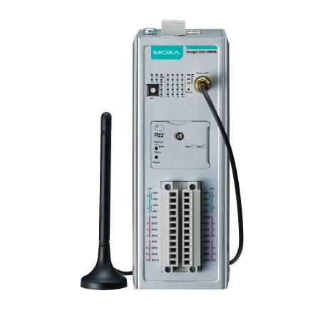 I/O server ioLogik 2542-HSPA-T 4xAI, 12xDIO, Modbus/TCP, 4xLAN RJ45, 9 až 48 VDC, slot na micro SD, -30 až 70°C
