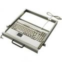 "Klávesnica Advantech IPC-KB-6312 PS/2, 105 kláves ENG, Touchpad, do racku 19"" 1U, čierna"