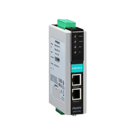 Prevodník priemyselný MGate EIP3170 DF1 full-duplex 1xRS232/422 DB9M 1xLAN EtherNet/IP CIP (PCCC)