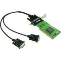 Komunikačná karta CP-102UL PCI/PCI-X 2xRS232 16kV ESD nízky profil