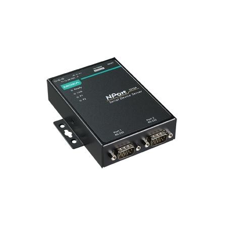 Sériový server NPort 5210A, 2xRS232 DB9M, 1xLAN, s nap. adaptérom