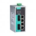 Switch EDS-P206A-4PoE-MM-ST-T, 4x10/100Tx RJ45 z toho 4 porty s podporou PoE, 2x multimode 100Fx ST, IP30, -40 až 75°C, nemanažovateľný