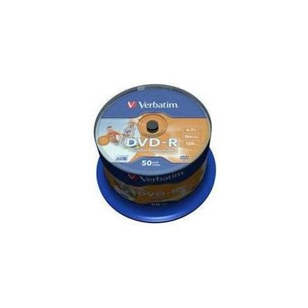 Médium Verbatim DVD-R 4,7GB 16x, Cakebox 50ks Printable