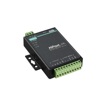 Sériový server NPort 5232, 2xRS422/485 svorky, 1xLAN, s nap. adaptérom