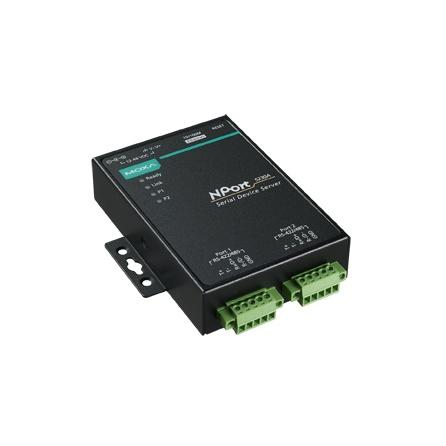 Sériový server NPort 5230A-T, 2xRS422/ 485 svorky, 1xLAN, -40 až 75°C, bez nap. adaptéra