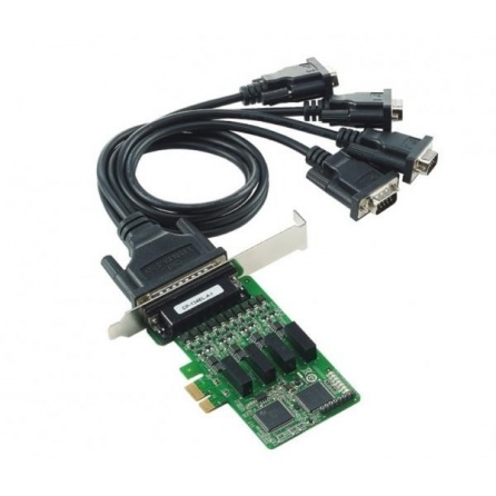 Komunikačná karta CP-134EL-A-I-DB9M, PCI Express, 4xRS422/485 DB9M, izol., nízky profil