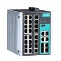 Switch EDS-528E-4GTXSFP-L, 24x10/100Tx RJ45, 4x10/100/1000Tx RJ45/SFP, manaž., Turbo Ring, Turbo Chain, VLAN, od -10° do 60°