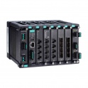 Modulárny switch MDS-G4020-T, L2 manažovateľný, 4xGbit Eth, 4 sloty pre moduly LM-7000H  2 sloty pre PWR moduly, max.20Eth portov, DI, 3x alarm relé, -40~75°C