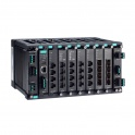 Modulárny switch MDS-G4028, L2 manažovateľný, 4xGbit Eth, 6x sloty pre moduly LM-7000H  2x sloty pre PWR moduly, max.28Eth portov, DI, 3x alarm relé, -10~60°C