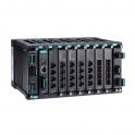 Modulárny switch MDS-G4028-T, L2 manažovateľný, 4xGbit Eth, 6x sloty pre moduly LM-7000H  2x sloty pre PWR moduly, max.28Eth portov, DI, 3x alarm relé, -40~75°C