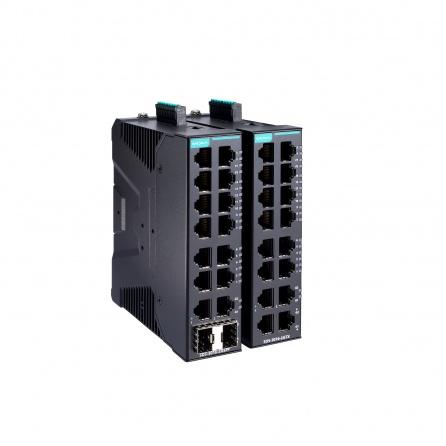 Smart switch SDS-3016-2GSFP-T, 14x10/100Tx RJ45, 2x10/100/1000Tx RJ45, VLAN, Profinet,  Modbus TCP, EtherNet/ IP, manažovateľný, -40 až 75°C