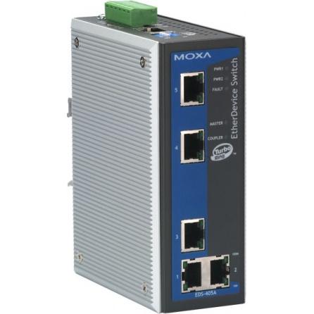 Switch EDS-405A-T 5x10/100BaseTx RJ45 základný manažment Turbo Ring VLAN -40 až +75°C
