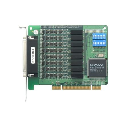 Komunikačná karta CP-118U-I PCI/PCI-X 8xRS232/422/485 DB62* 15kV ESD 2kV opt. izolácia