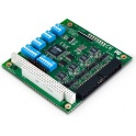 Komunikačná karta CA-104 PC/104, 4xRS232/422/485, 16kV ESD -40až+85°C