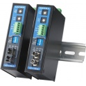 Prevodník trojcestný RS-232, RS-422/485, opt.vlákno ICF-1150I-S-ST, DB9M, svorky, singlemode 40 km ST,izol., bez nap. adaptéra, DIN