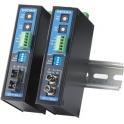 Prevodník trojcestný RS-232, RS-422/485, opt.vlákno ICF-1150I-M-ST, DB9M, svorky,  multimode 5 km ST,izol.,bez nap.adaptéra, DIN