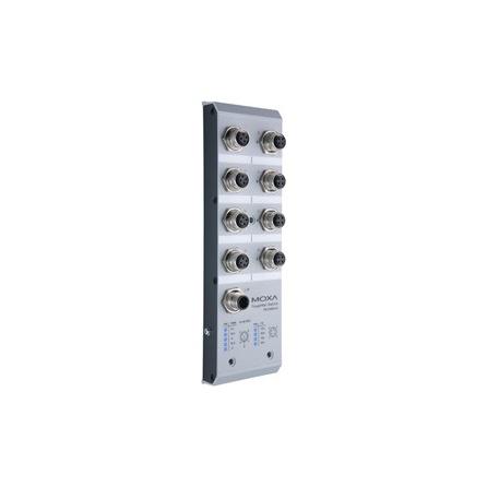 Switch TN-5308-MV 8x10/100Tx M12 nemanažovateľný, IP40, EN50155, NEMA TS2, 72/96/110 Vdc