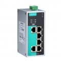 Switch EDS-P206A-4PoE, 6x10/100Tx RJ45 z toho 4 porty s podporou PoE, IP30, nemanažovateľný