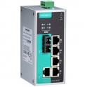 Switch EDS-P206A-4PoE-M-SC-T, 5x10/100Tx RJ45 z toho 4 porty s podporou PoE, 1x multimode 100Fx SC, IP30, -40 až 75°C, nemanažovateľný