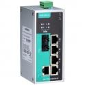 Switch EDS-P206A-4PoE-M-ST, 5x10/100Tx RJ45 z toho 4 porty s podporou PoE, 1x multimode 100Fx ST, IP30, nemanažovateľný
