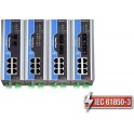 Switch PowerTrans PT-508-SS-SC-HV na DIN lištu, IEC 61850-3, IEEE1613, 6x 10/100Tx RJ45, 2