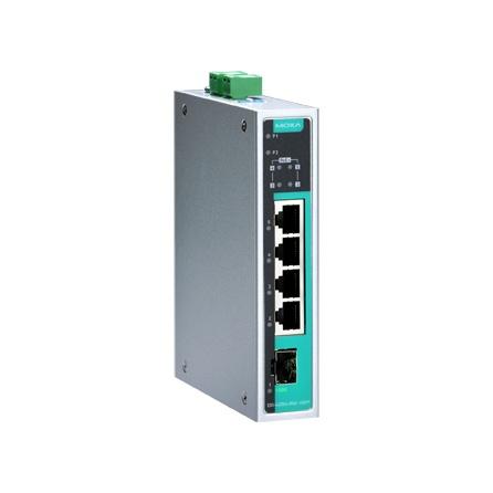 Switch EDS-G205A-4PoE-1GSFP, 4x10/100/1000Tx RJ45 s podporou PoE, 1x 100/1000 SFP, 0 až 60°C