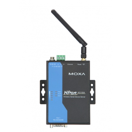 Sériový server WiFi NPort W2150A-T 1xRS232/422/485 DB9M, 1xWLAN 802.11a/b/g, -40 až 75°C