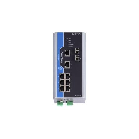 Switch PowerTrans PT-510-MM-LC-HV na DIN lištu, IEC 61850-3, IEEE1613, 8x 10/100Tx RJ45, 2