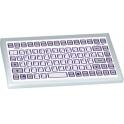 Klávesnica GETT KF08289 PS/2 US 85 kláves IP65, na stôl, biela