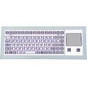Klávesnica GETT KF08285 PS/2 US 85 kláves IP65, s touchpadom, na stôl, biela